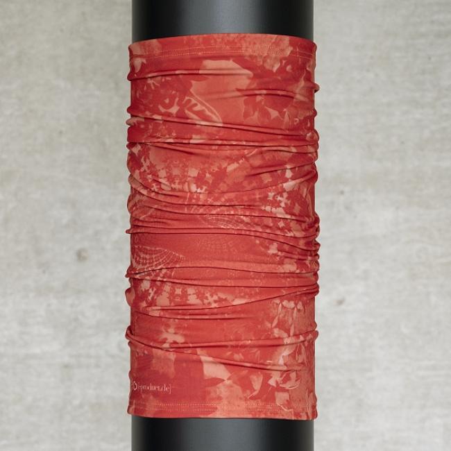 Multifunktionsschal Batik FLORAL Feuerrot