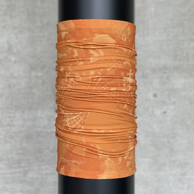 Multifunktionsschal Batik FLORAL ORANGE