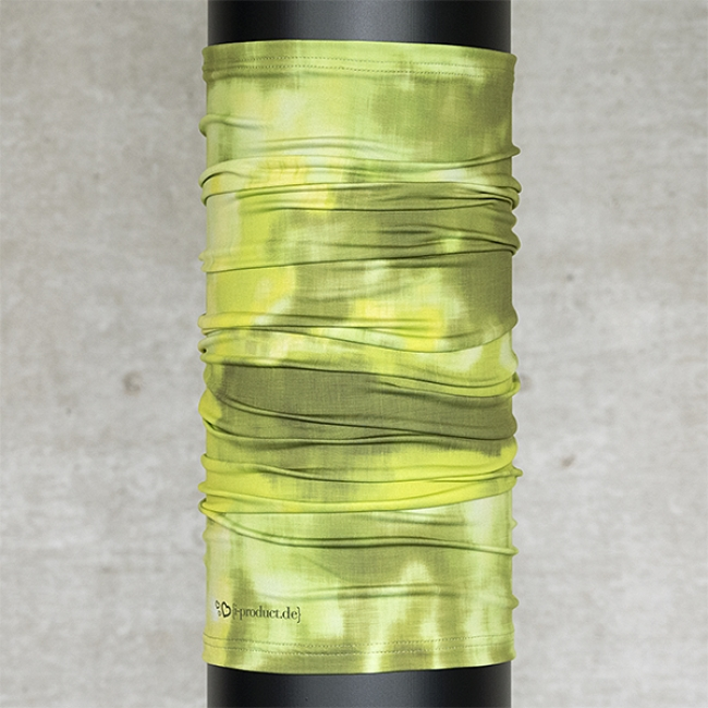 Multifunktionsschal Batik Struktur Limette