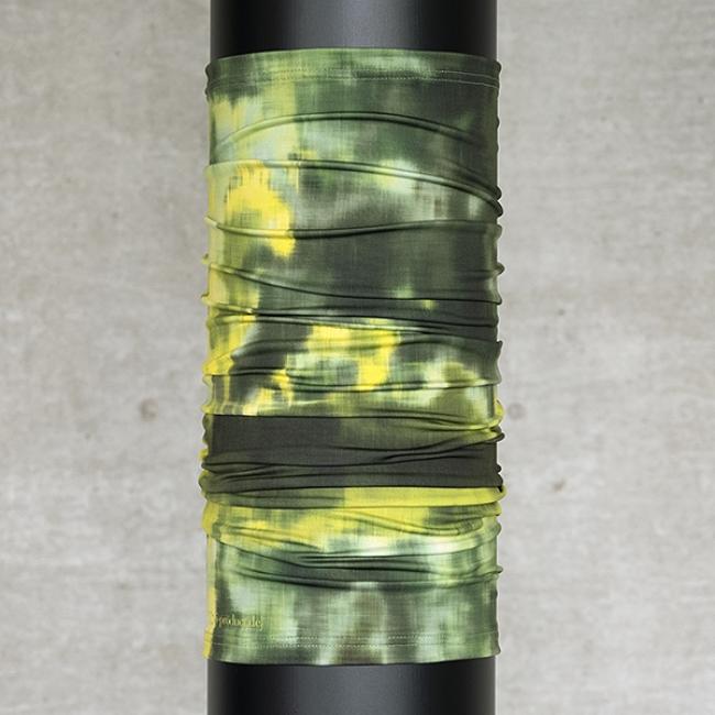 Multifunktionsschal Batik Struktur Olive