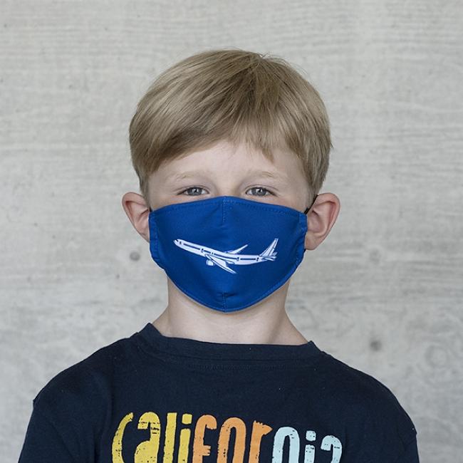 """Gesichtsmaske Kinder """"Flugzeug"""""""