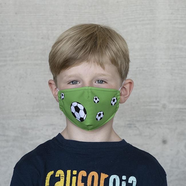 "Gesichtsmaske Kinder ""Fussball"""