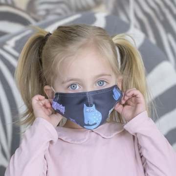 KIDS-Maske CATS blue