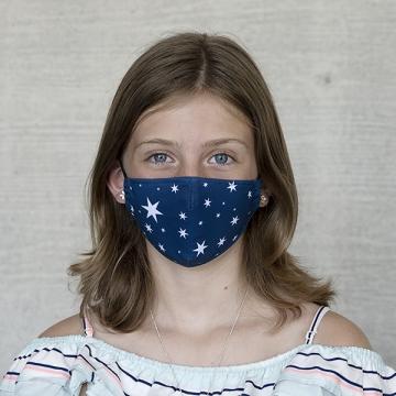 """Gesichtsmaske Kinder """"Sterne"""", Blau"""