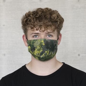 Gesichtsmaske BATIK STRUKTUR, oliv